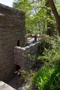 View of the back of Fallingwater